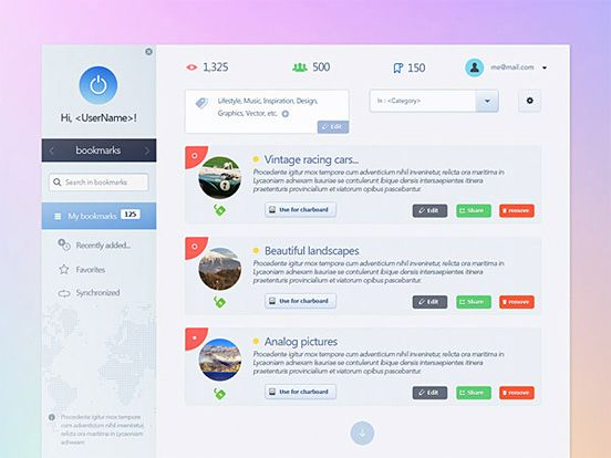 dashboard web design