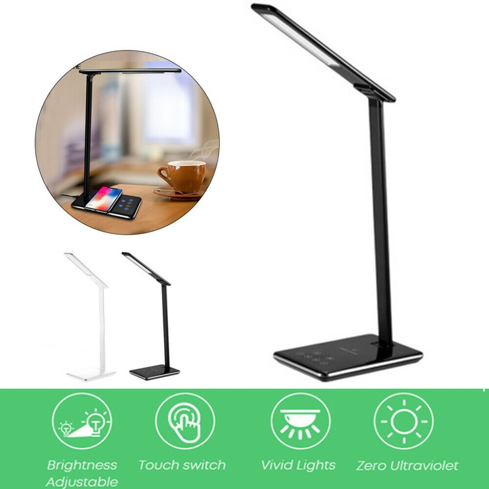 Details About 2 In 1 Usb Charge Led Desk Lamp Fast Qi Wireless Phone Charger Reading Light Led Desk Lamp Desk Lamp Desk Lamps