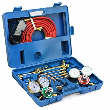 ACETYLENE /& OXYGEN WELDING CUTTING OUTFIT TORCH SET GAS WELDER KIT w//15FT HOSES