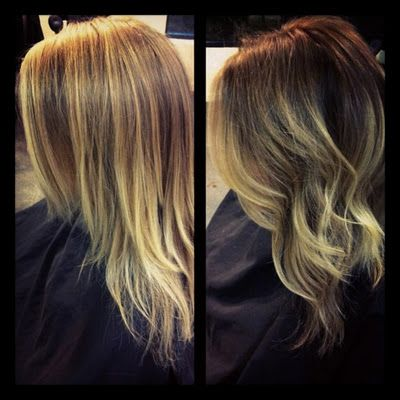 Ombre.. I don't want it so blonde, but I want to do this soon!!