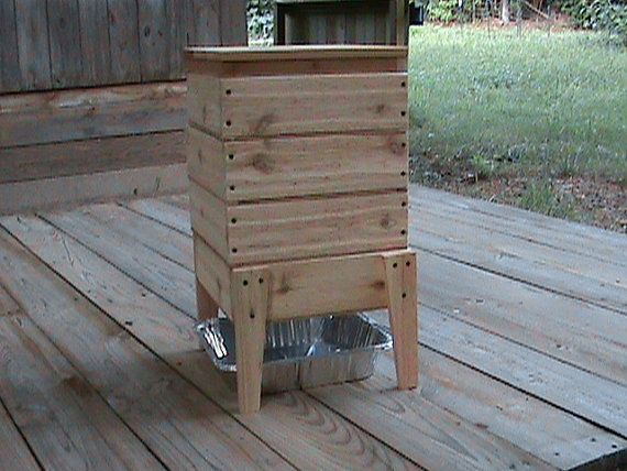 Homemade Wood Worm Bin Cedar 4 Tray By Jacksgardens On Etsy 4995