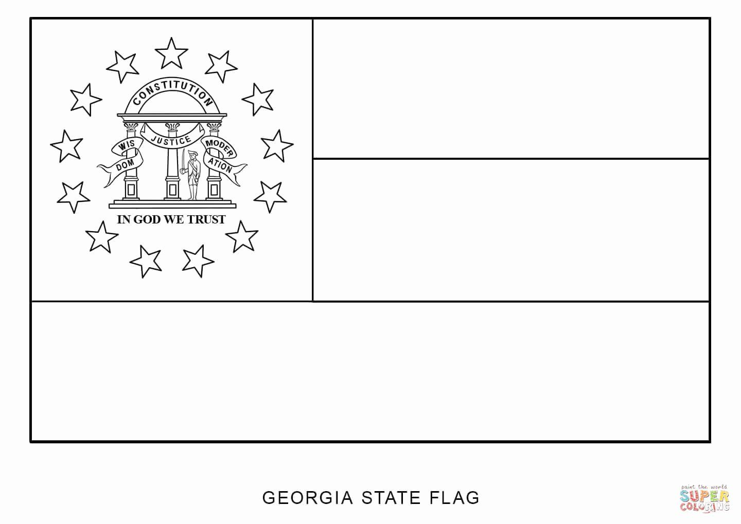 Liberty Bell Coloring Pages Fresh Coloring Pages And Books United States Flag Coloring Page In 2020 Flag Coloring Pages Georgia Flag United States Flag