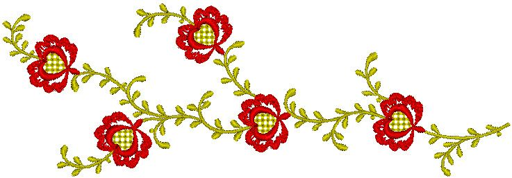 Unique Floral Embroidery Design 301 | Free Embroidery Designs Download | Free Machine Embroidery Designs | Free Embroidery Patterns