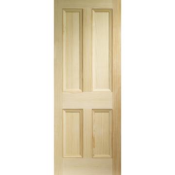 Good Edwardian 4 Panel Vertical Grain Pine Solid Door | Solid Doors, Pine Doors  And Pine