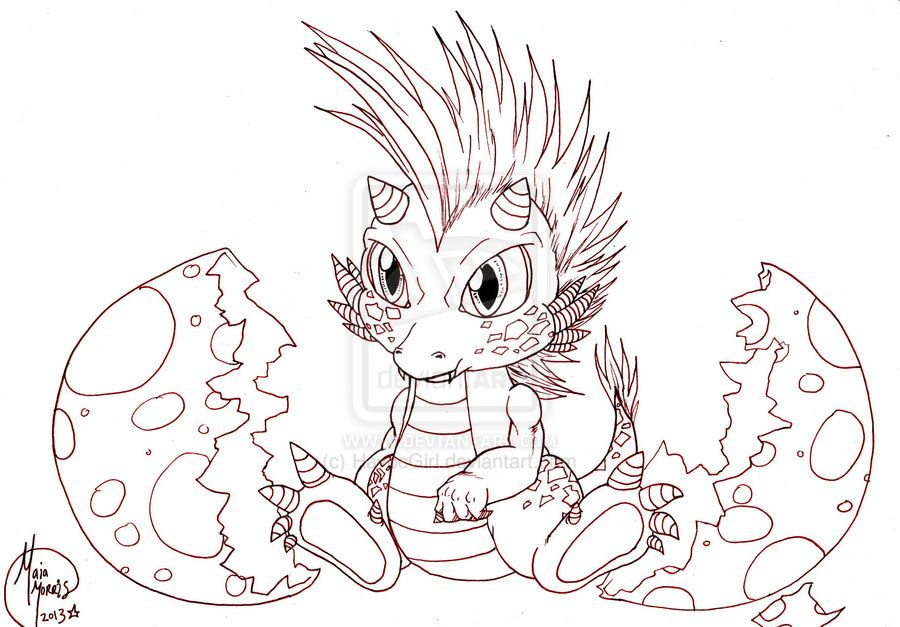 Cute Baby Female Dragons Cute Baby Dragon Hatching Work In Progress By Havocgirl On Dragon Coloring Page Baby Dragons Drawing Dragon Drawing