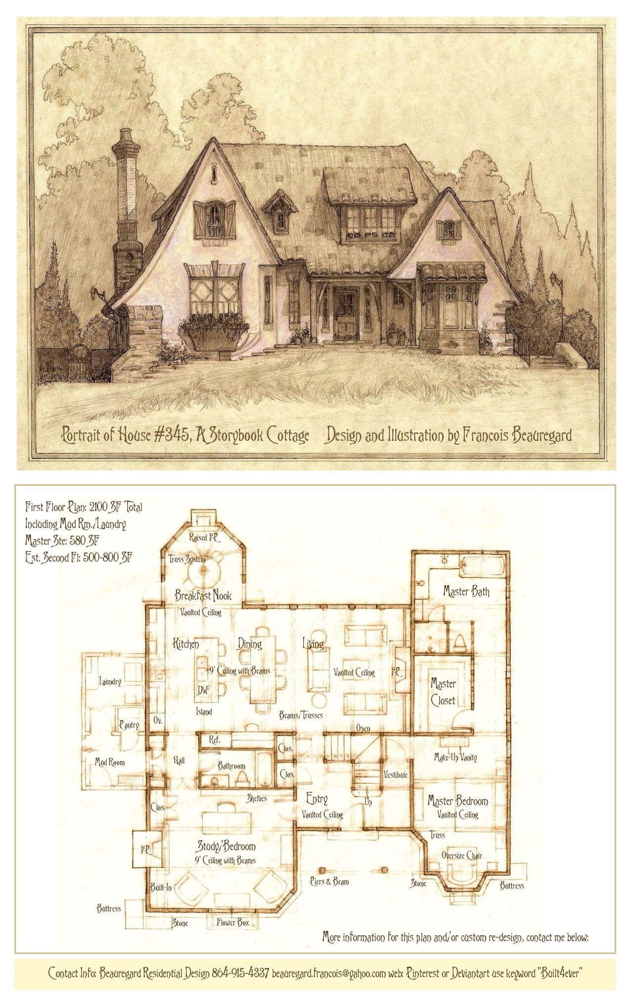 Cottage By Built4ever Cottage Floor Plans Storybook Homes Rectangle House Plans
