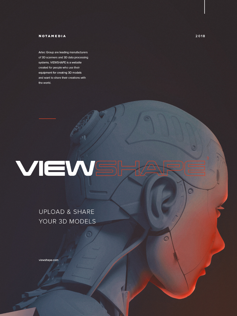 Viewshape on Behance Create website, Data processing