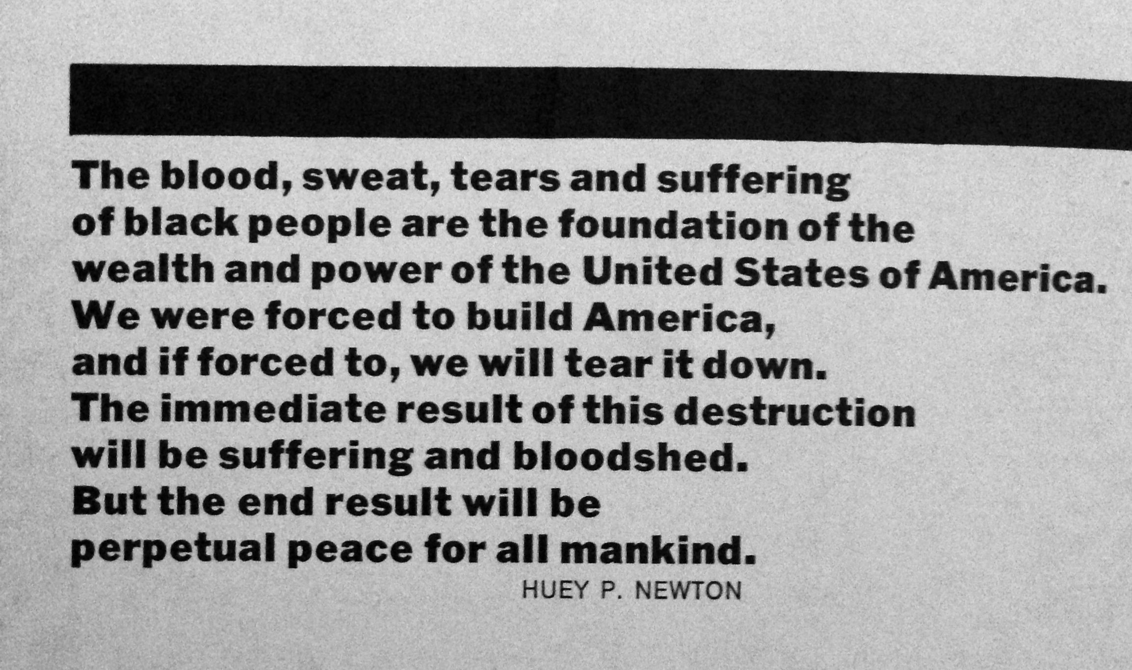 Black Panther Huey Newton Quotes. QuotesGram