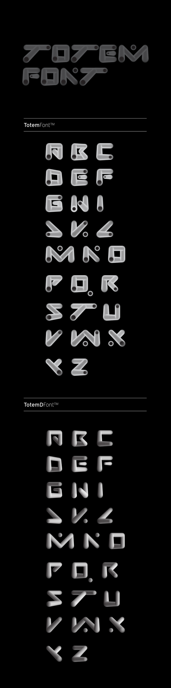 TOTEM_FONT by Haralampos Andreanidis