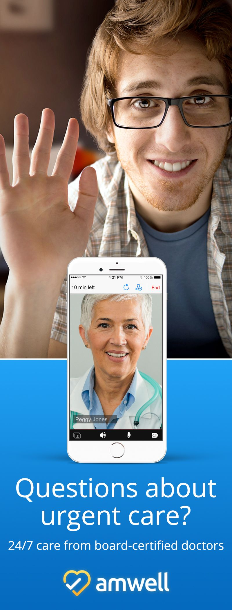 Connect with a licensed physician over mobile video in