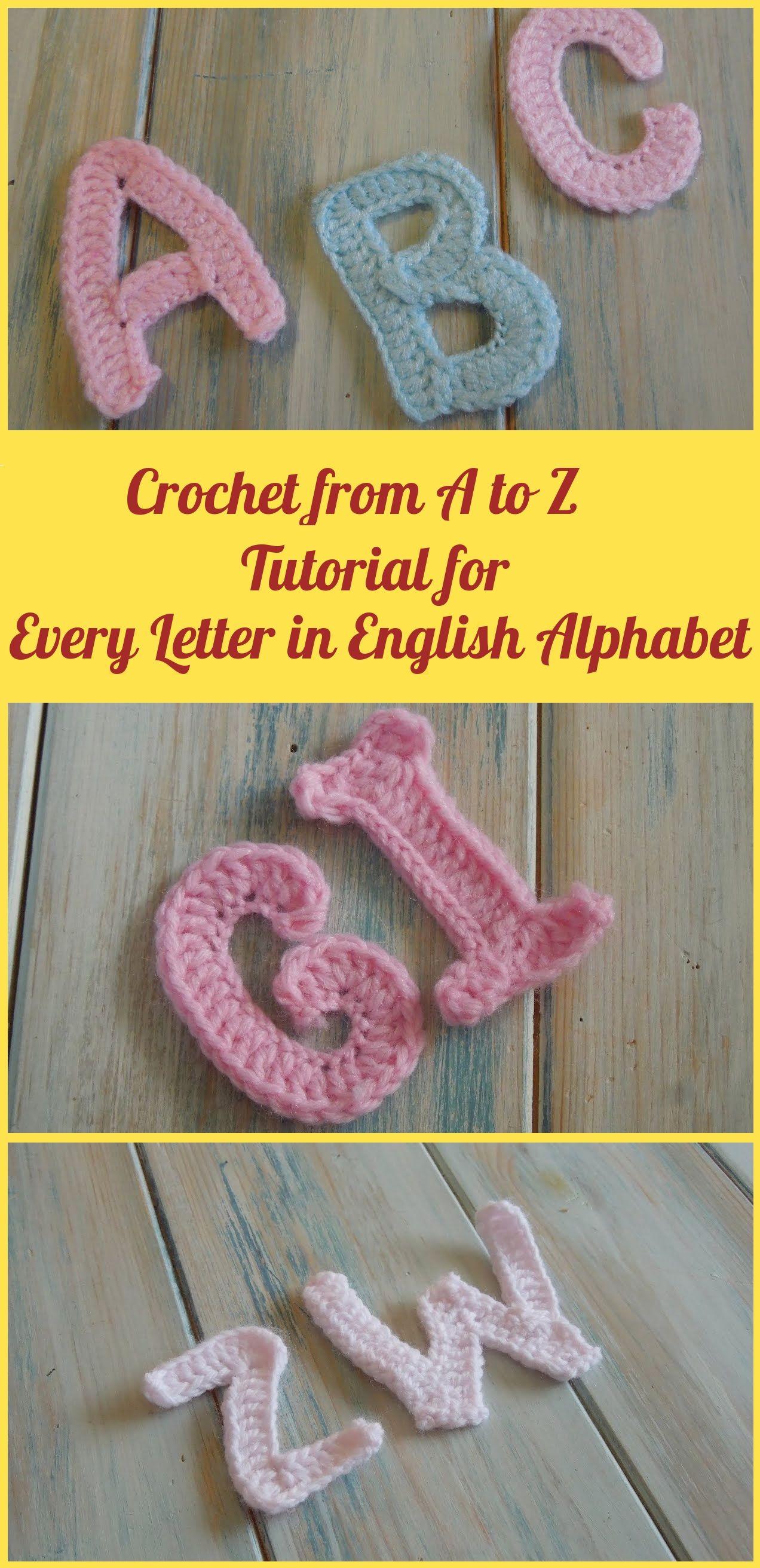 Häkelanleitung für jeden Buchstaben im Alphabet