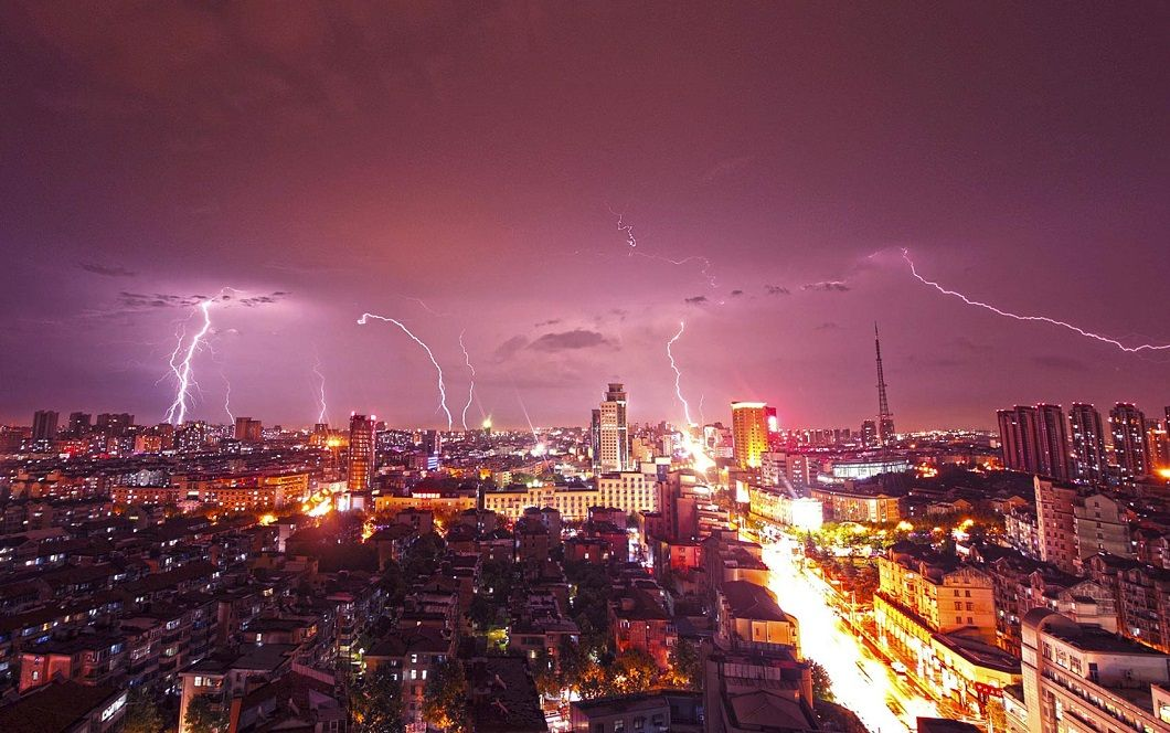 Lightning in China By Stringer