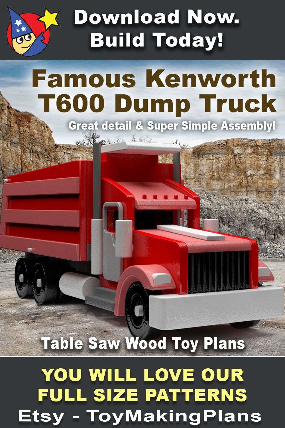 Pin on Wooden trucks and toys