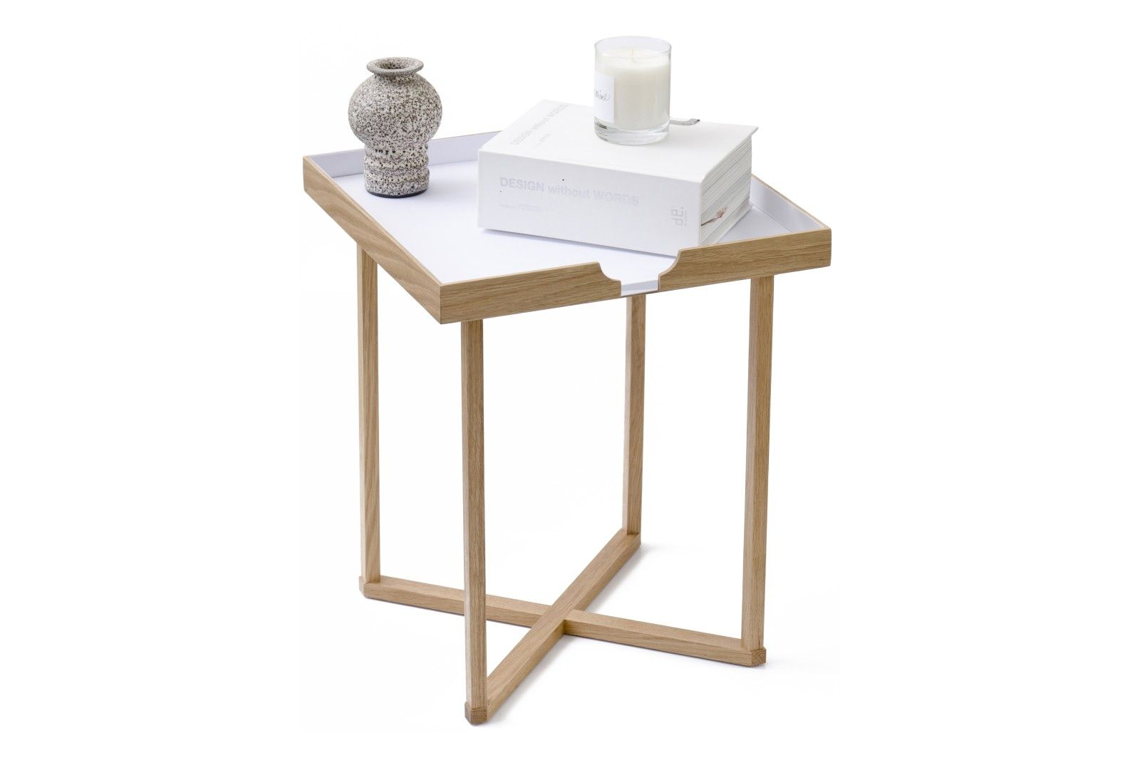 Damien Square Side Table From Wireworks Square Side Table White
