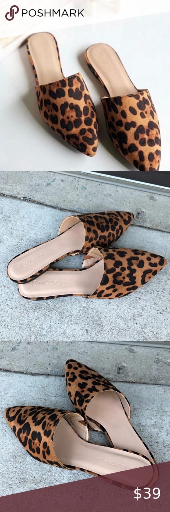 Wild diva shoes, Heels, Leopard mules