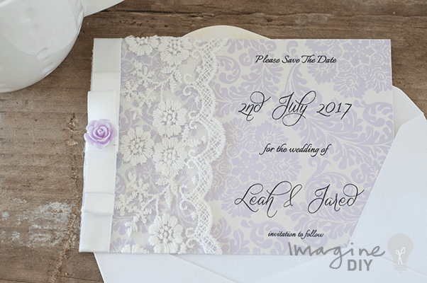 how to make lilac and lace wedding stationery cards diy lilacs
