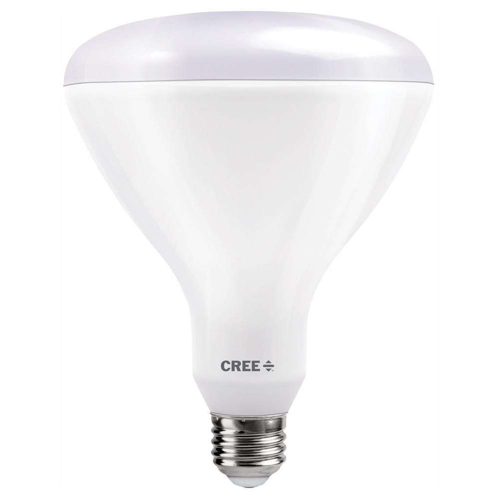 Cree 120w Equivalent Bright White 3000k Br40 Dimmable Exceptional Light Quality Led Light Bulb Tbr40 18030flfh25 12de26 1 11 The Home Depot Led Light Bulb Light Bulb Led Lights