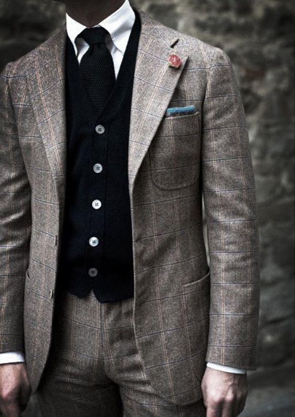 SICK windowpane plaid suit