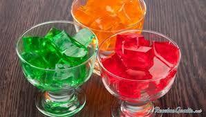 Resultado de imagen de gelatinas de colores