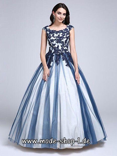 Zweifarbiges Brautkleid 2018 Blau - Weiß im Brautkleider ...