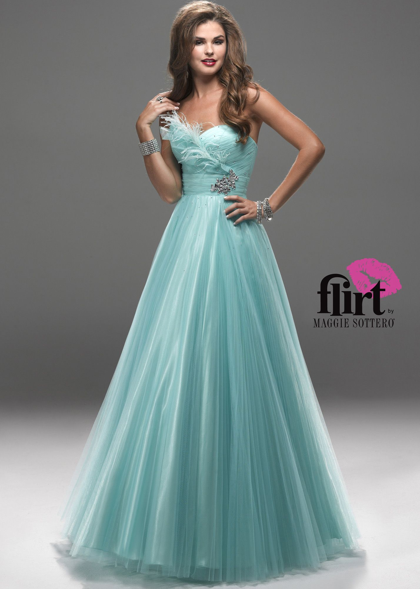 Buy now Flirt by Maggie Sottero P2728 green strapless ball gown ...