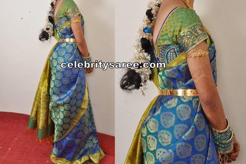 My Wedding Sarees With Silk Embroidery Blouses Saree Blouse Saree