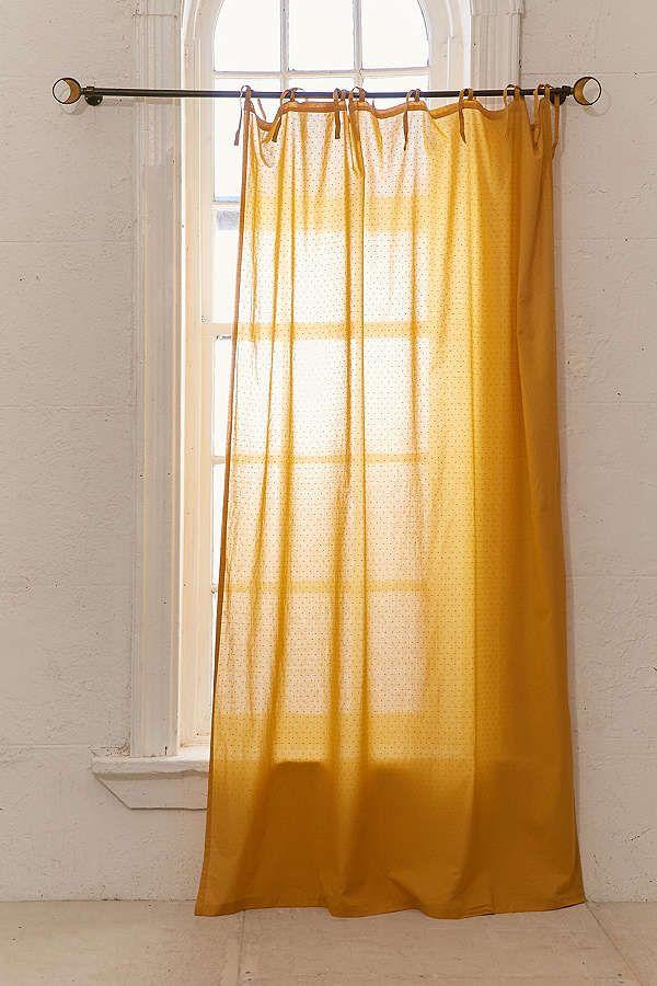 Mid Century Modern Wood Curtain Rod Rideaux A Pois Rideaux Rideau Moutarde