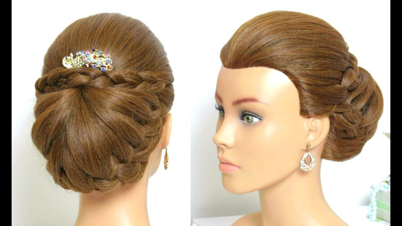 Easy wedding hairstyles with puff beautiful bridal updo youtube