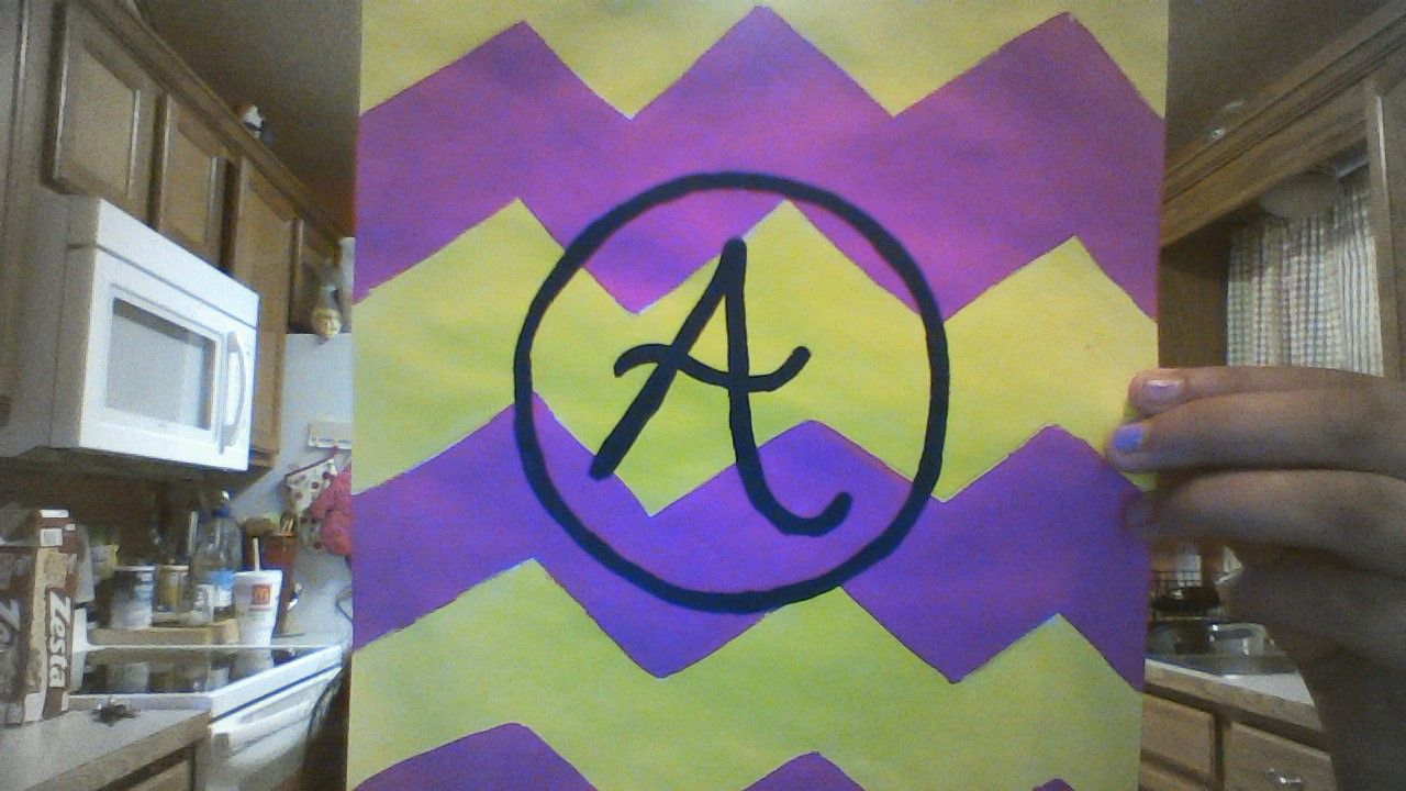 Okay! so i came up with this amazing idea to paint a monogram just with a letter! It came out so beautiful:) Try it:) it great to keep children busy:)