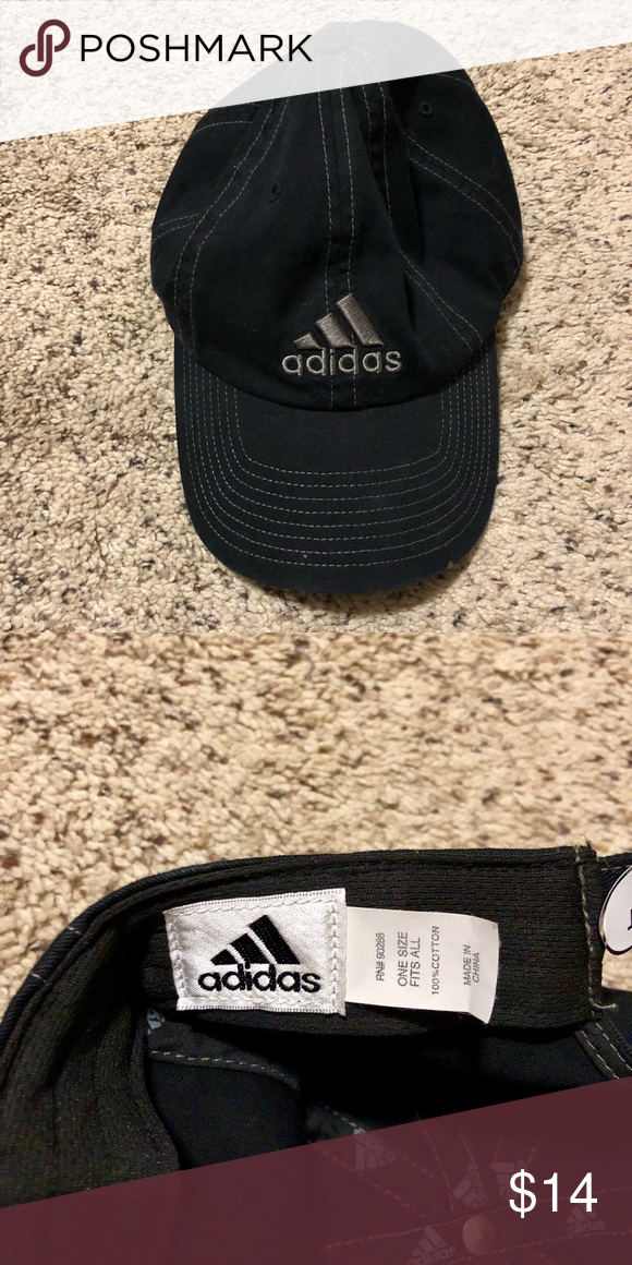 Adidas hat Black adidas hat. One size fits all adidas Accessories Hats 331eba13d