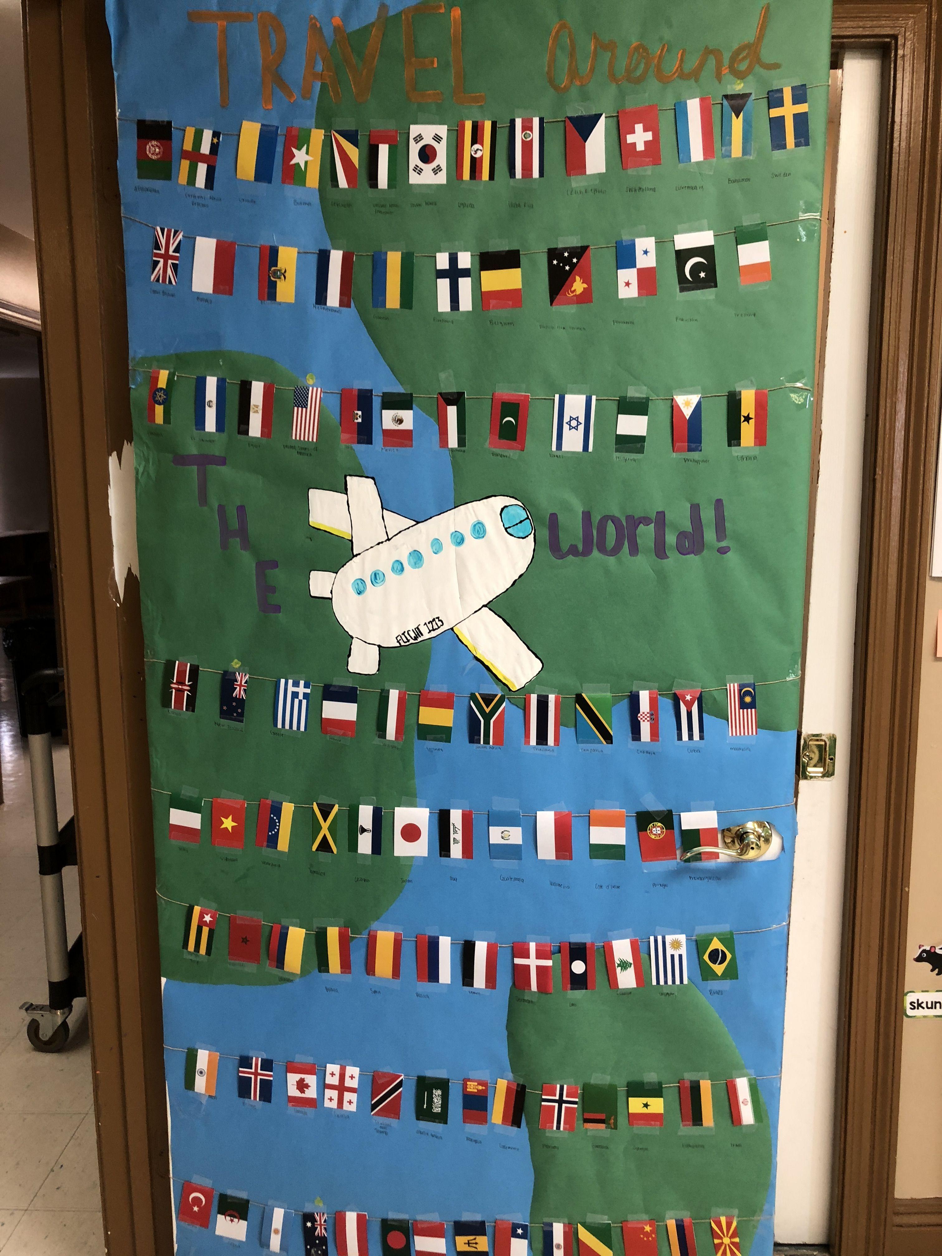 Travel Around The World Themed Door Classroom Travel