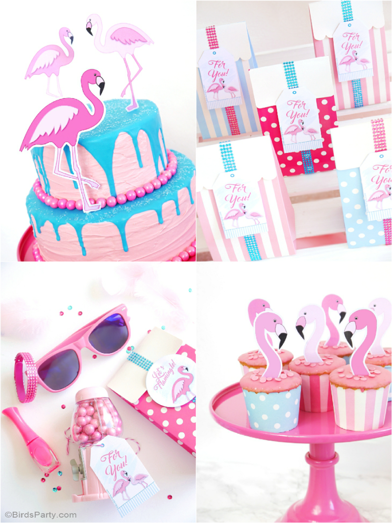 Flamingo Pool Party Ideas Printables Flamingo birthday Flamingo