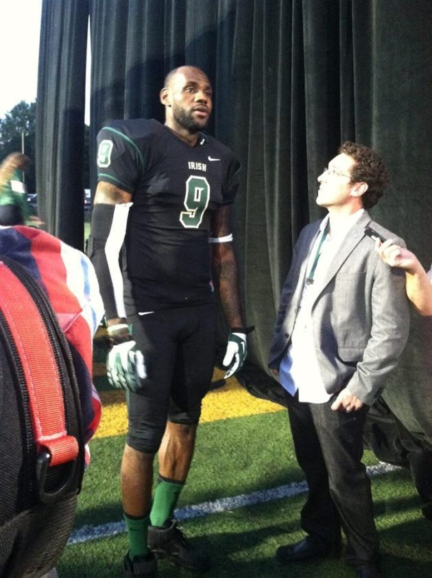 1d086b27beb2 Lebron in the NFL  He looks like it would be an easy shift from a physical  standpoint!