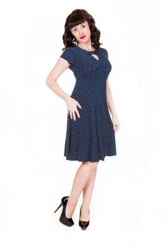687156309c67c Polka Dot Blue 1940s Tea Dress UK 8 - 26  plussize  dresses  vintage   Bridesmaid  dress  sale  damhag  1950s  polkadots