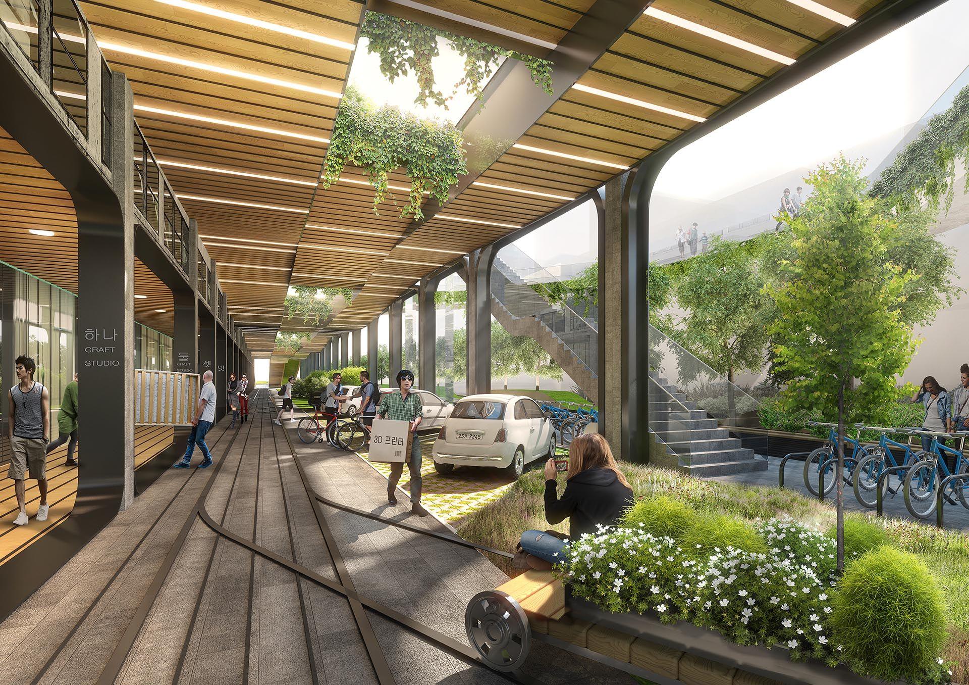 Seun city walk seunsangga seun high line in korea 3d - Sustainable urban planning and design ...
