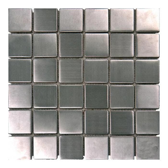 Silver 12 X 12 Metal Mosaic Sheet Metal Mosaic Tiles Metal Tile Stainless Steel Tile
