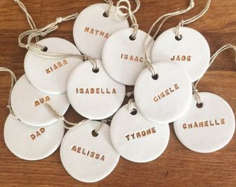 Arbre de Noël personnalisé argile ornement ou un cadeau de tag