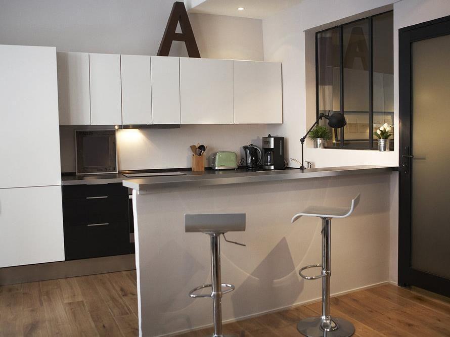 Effet moderne et frais pour la petite cuisine idee n voor het huis pinter - Petite cuisine moderne ...