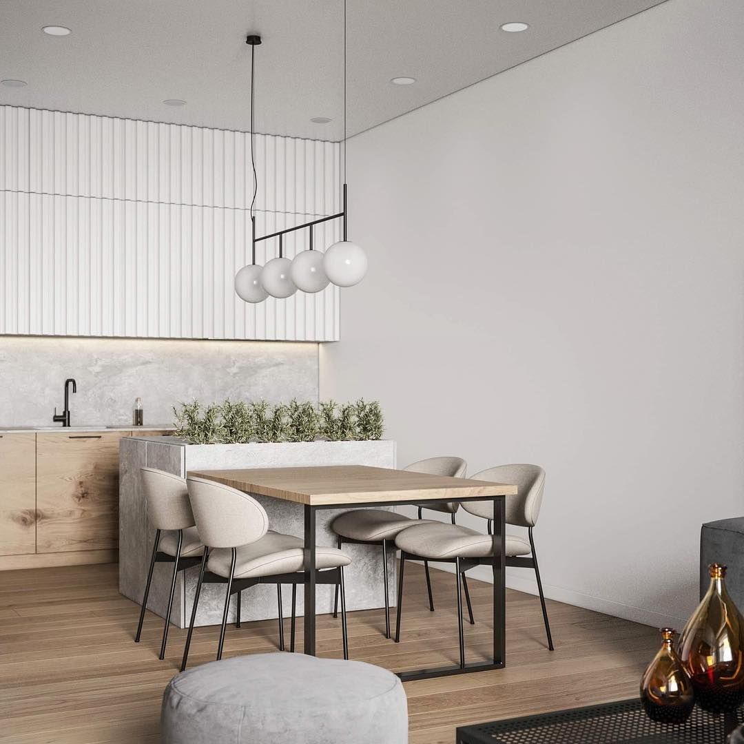 Dining Details From 3dm Studios A Hanging Pendant Focus Creates A
