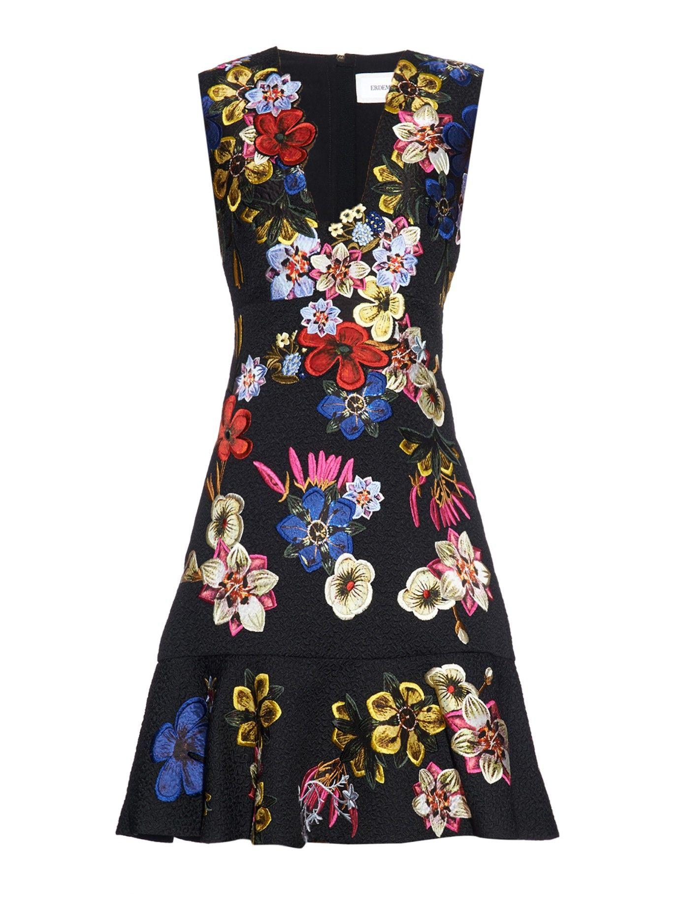 Black Floral Embroidered Dress Floral Embroidered Dress Midi Dress Sleeveless Embroidered Dress [ 1846 x 1385 Pixel ]