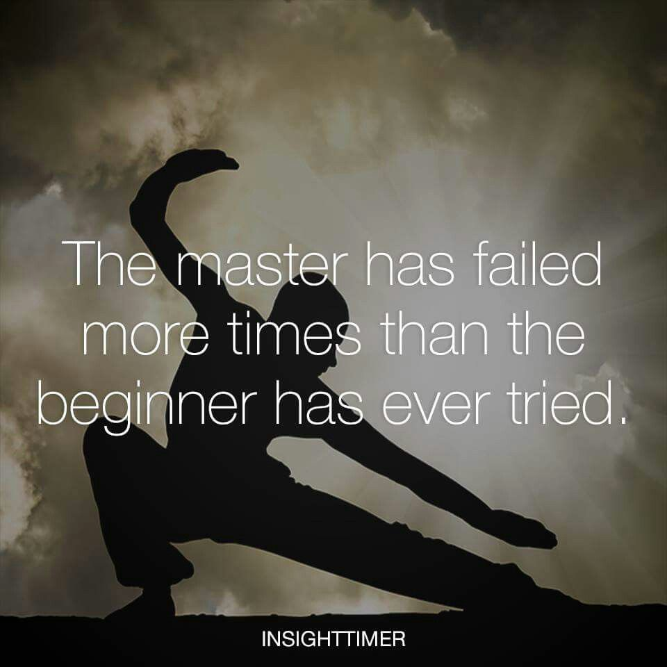 Master fails more times than beginner ever tried