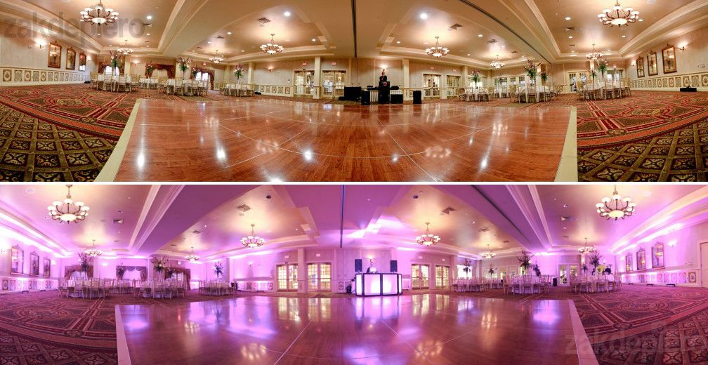 Wedding Uplighting Before And After