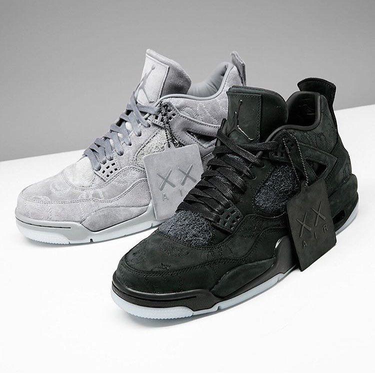 new arrival 15d1e 5c5e1 Black vs grey - which Air Jordan 4 x  kaws would you pick  by  stadiumgoods   sneakersmag  airjordan  kaws  jumpman