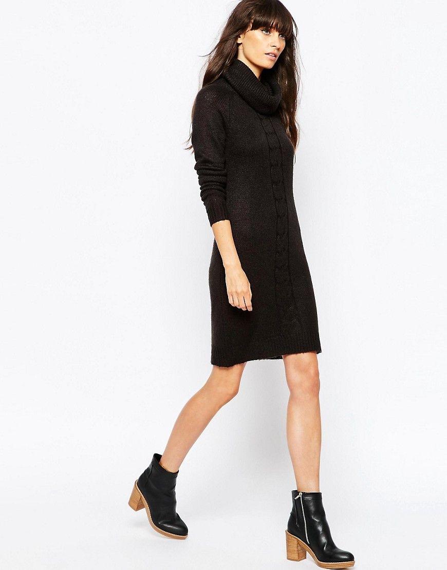 Vero moda long sleeve roll neck knitted dress modas y diseños