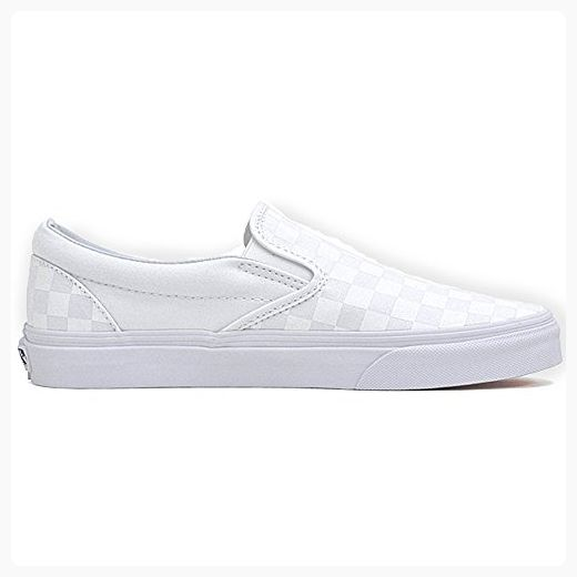a485fa9b8ce571 Vans Classic Slip On Shoes UK 13 White Checkerboard ( Partner Link ...