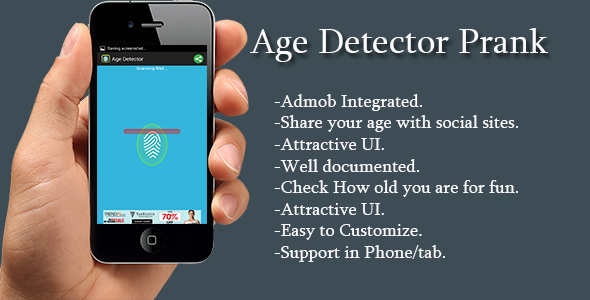 Age Detector Mobile app templates, Android studio, Coding