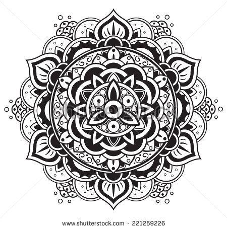 Stock Vector Mandala Round Pattern 221259226 Jpg 450 215 455