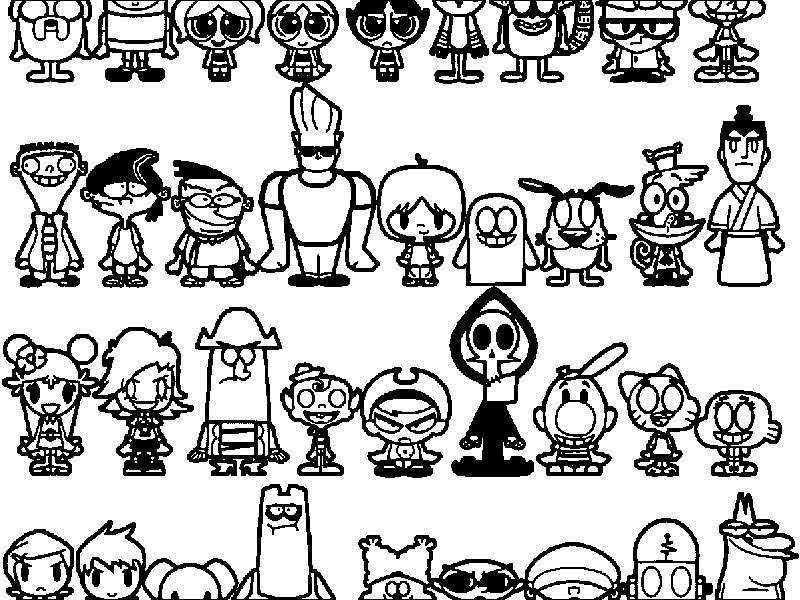 Cartoon Network Characters Coloring Page Di 2020