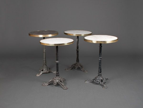 gu ridon de bistrot gu ridon de bistrot plateau circulaire en marbre serti de cuivre reposant. Black Bedroom Furniture Sets. Home Design Ideas
