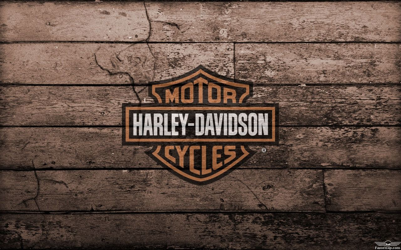 Arri re plan harley davidson avec logo orange et noir 1280 - Old school harley davidson wallpaper ...